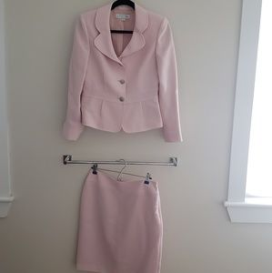 Blush Pink Tahari Two-Piece Skirt Suit